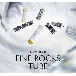 Collier court  FINE ROCKS TUBE SWAROVSKI  Crystal